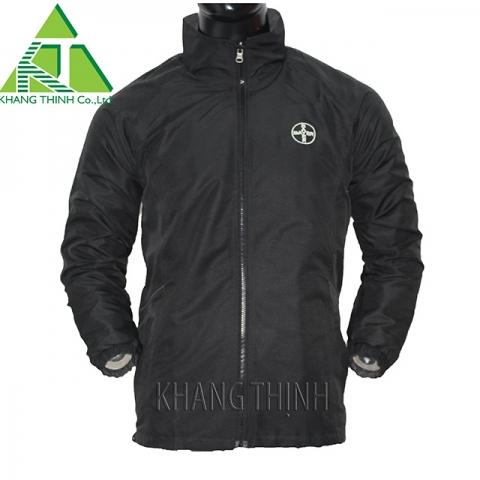 Áo khoác gió đồng phục Bayer màu đen